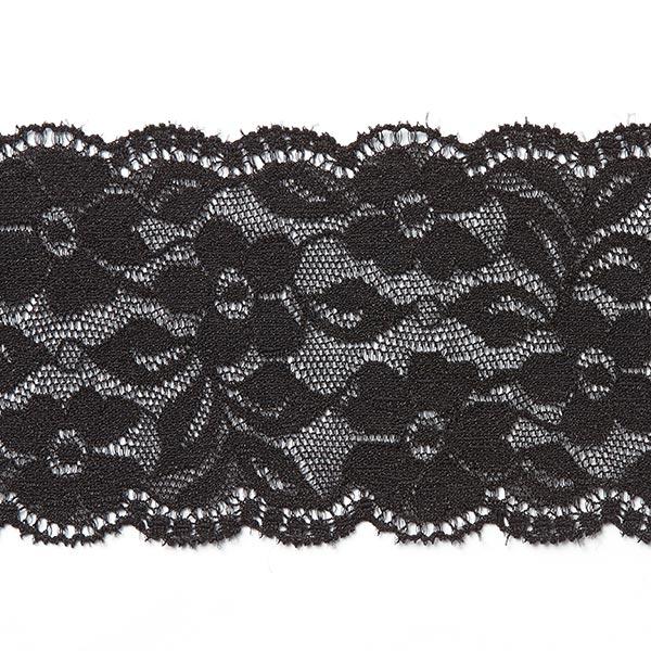 Elastische Wäschespitze [60 mm] - schwarz
