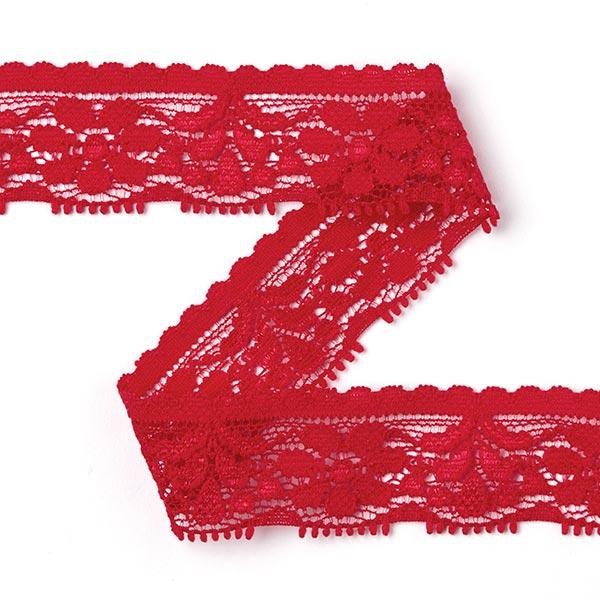 Dentelle élastique Mary - rouge