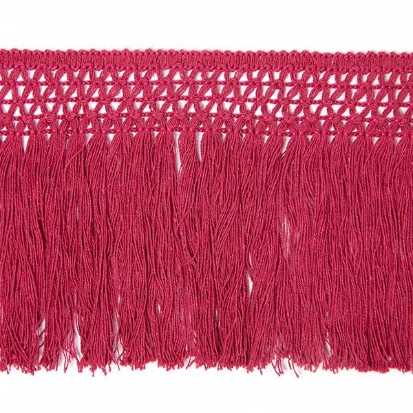 Bande à franges coton (10 cm) 5 – rouge violet