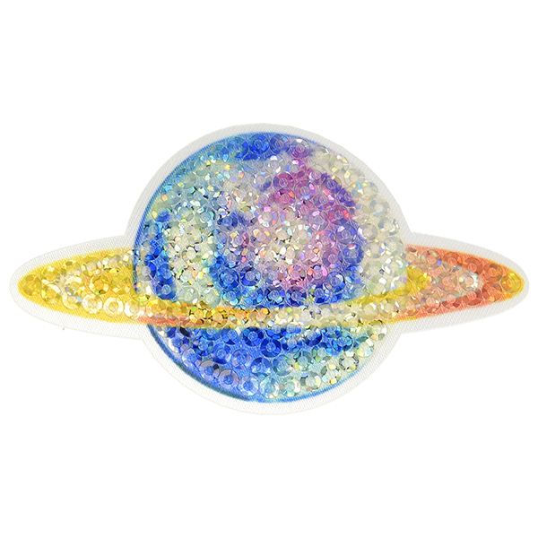 Application Paillettes Planète  – mélange de couleurs