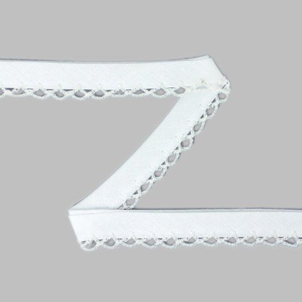 Biais avec bordure au crochet 9 – blanc