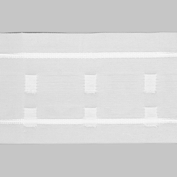 Bande plissée avec plis plats 75 mm