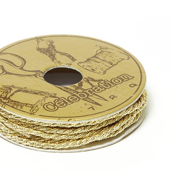 Cordon Lurex, Mini bobine [2m x Ø 2mm] | 4 – or