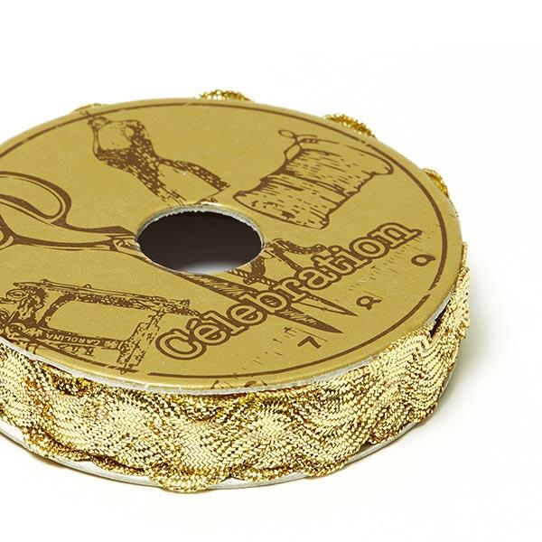 Galon dentelé Lurex, Mini bobine [1 m] | 1 – or