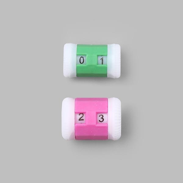 Arrêt de mailles avec calculateur de tricotage