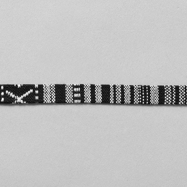 Galon Ethno [10 mm] – noir/blanc