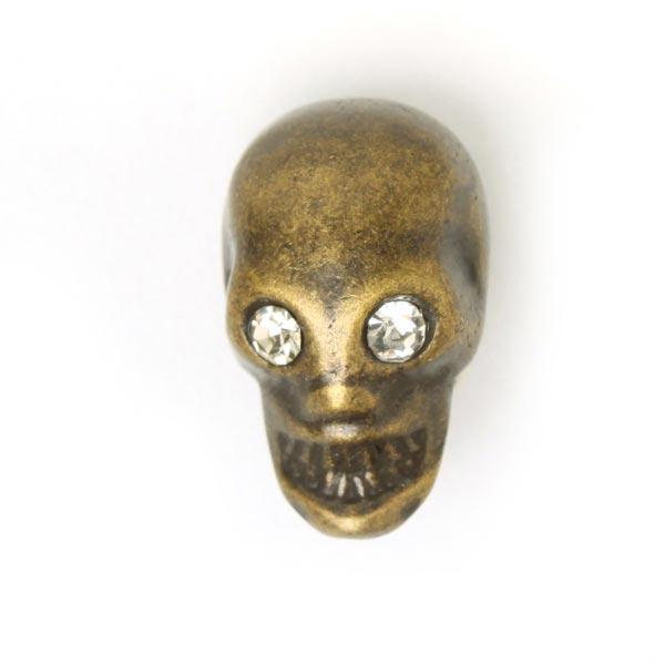 Bouton en métal Tête de mort 6