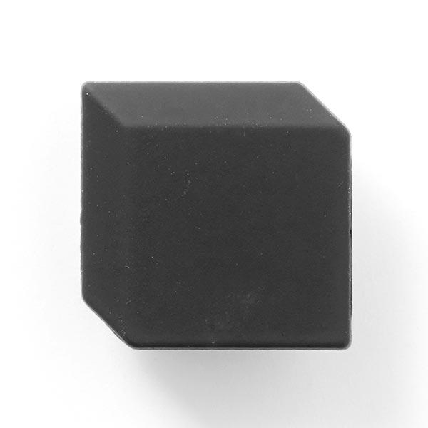 Bouton métal Cube - noir