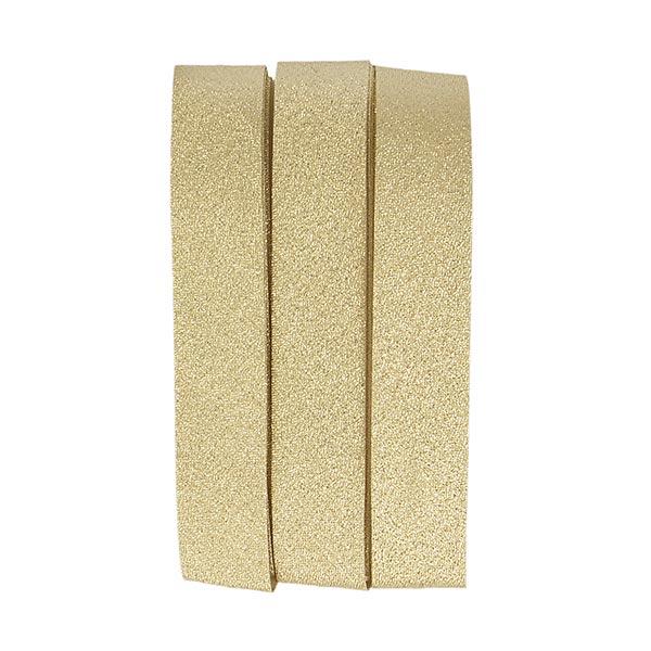 Aufbügelbares Schrägband Glitter [20 mm | 2 m] - gold
