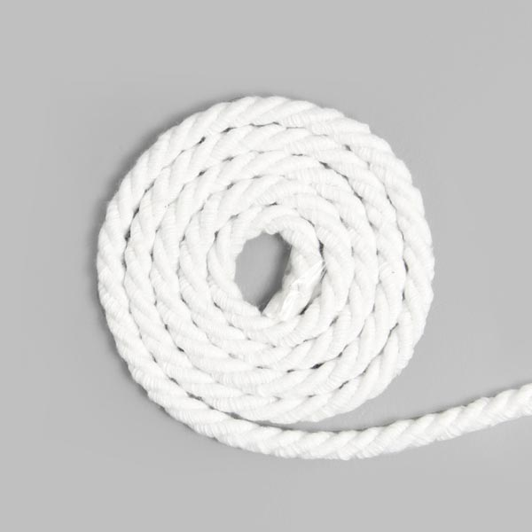 Baumwollkordel [Ø 5 mm] - weiss