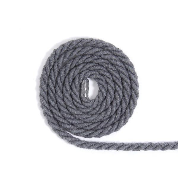 Baumwollkordel [Ø 5 mm] - dunkelgrau