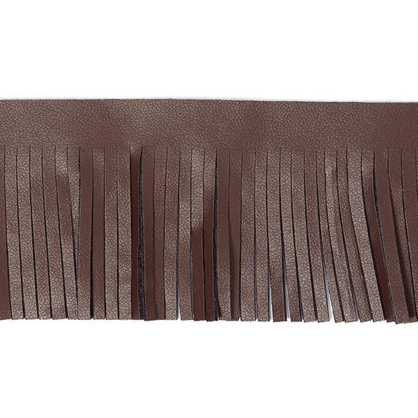 Franges en similicuir Nubuk [50 mm] | 2 - marron foncé