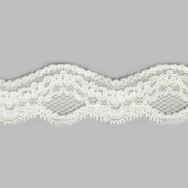 Dentelle élastique Athene [36 mm] - blanc cassé