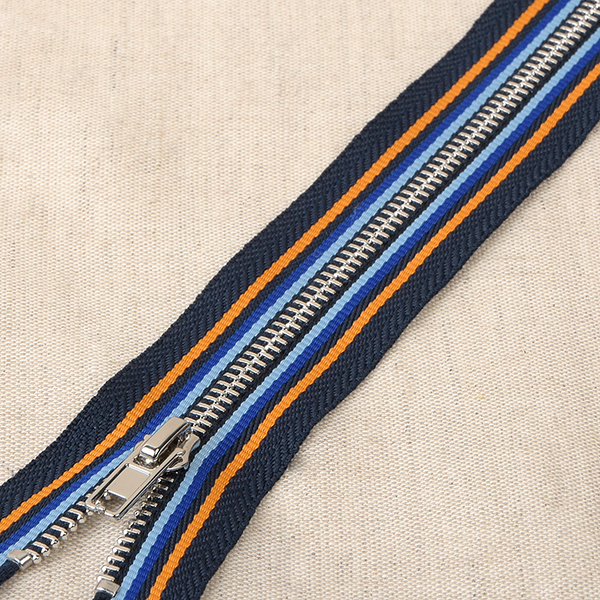 Fermeture éclair  – bleu marine/orange