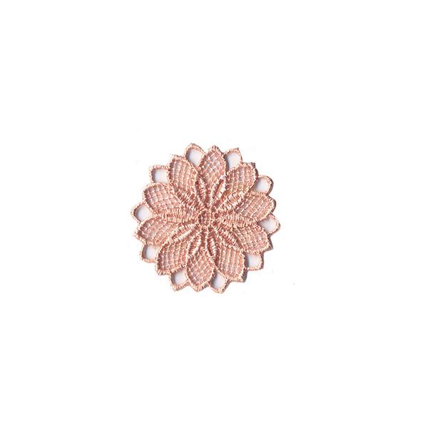 Application Fleur brodée  – rosé