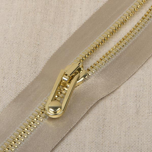 Glanz Reißverschluss  – beige/gold