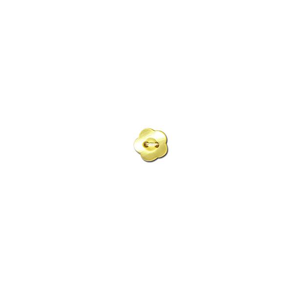 Bouton 2 trous Fleur  – jaune