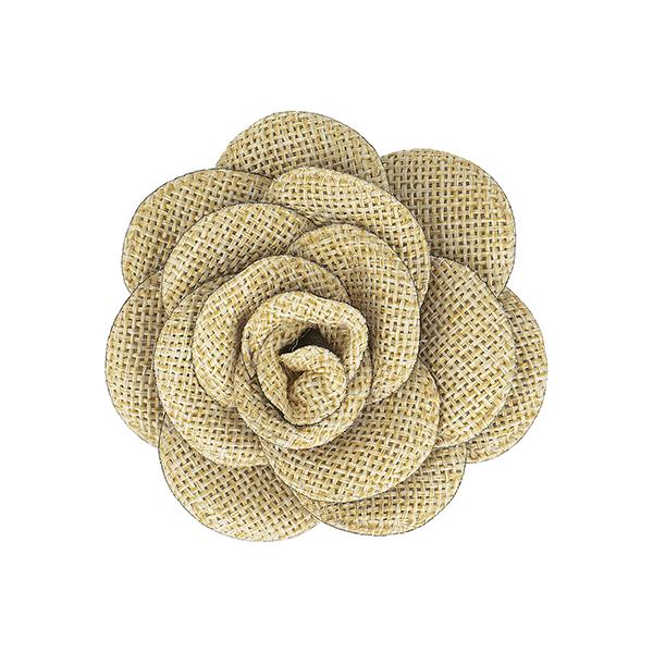 Badge Fleur tissée  – beige
