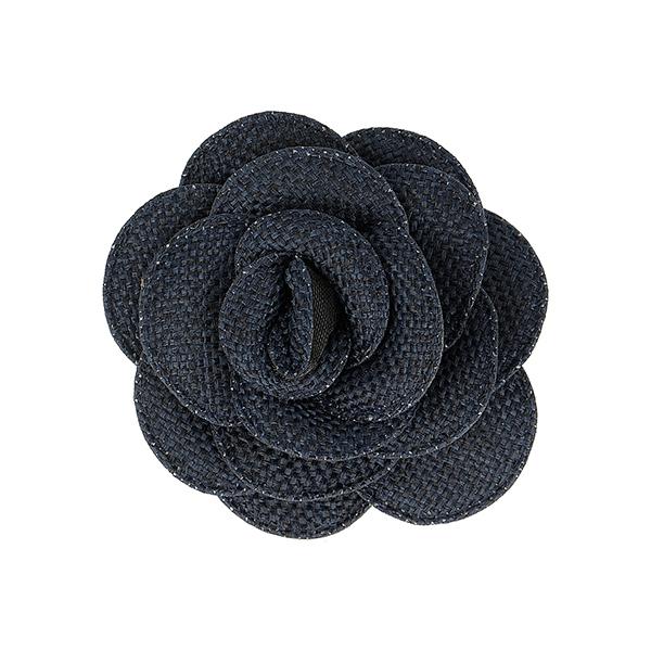 Badge Fleur tissée  – navy