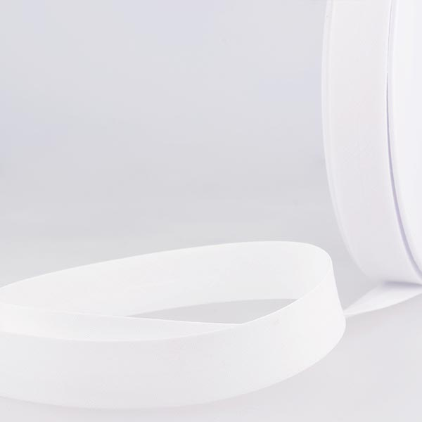 Biais  [Largeur : 27 mm ] – blanc