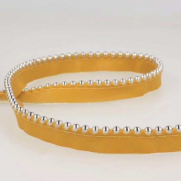 Passepoil avec perles de métal  [ Largeur : 13 mm ] – terre cuite