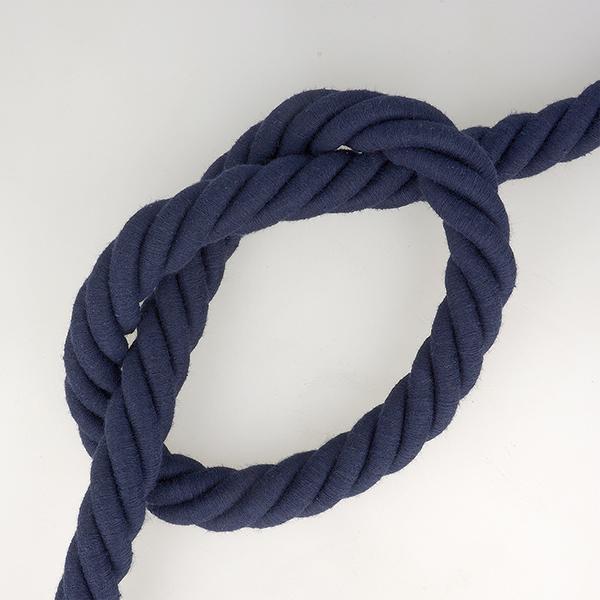 Cordon en coton  – bleu marine