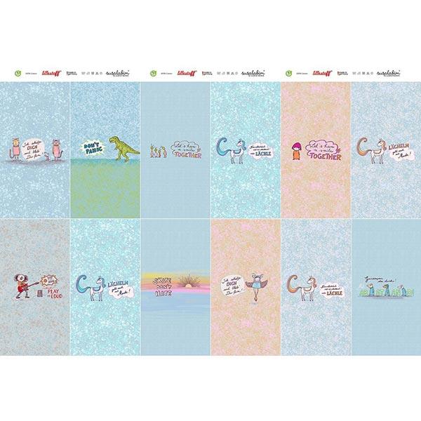 Popeline coton Panel Kit masques pour enfants Statement – blanc