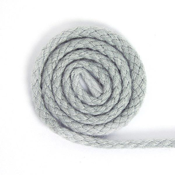 Baumwollkordel [Ø 3 mm] - hellgrau