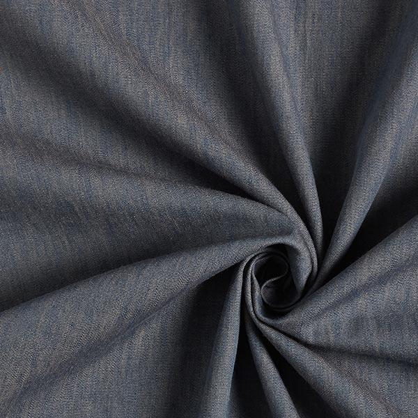 Blusenstoff Baumwolle Melange – blau/beige