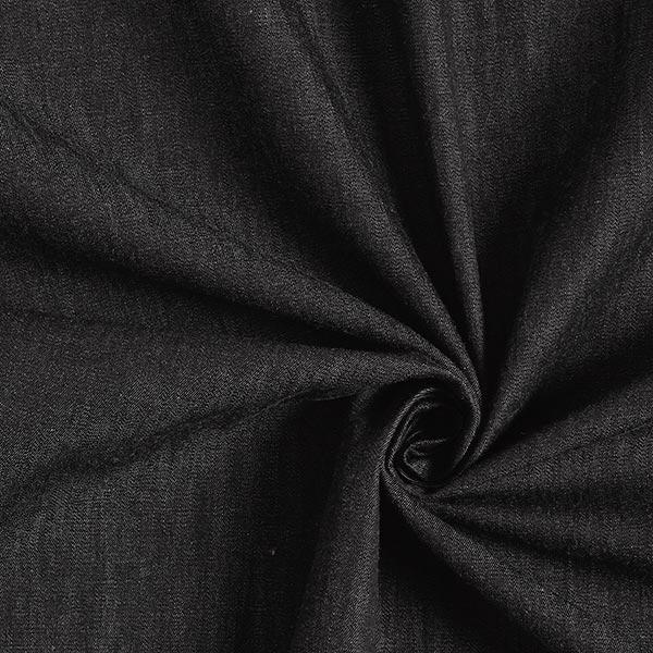 Blusenstoff Baumwolle Melange – schwarz