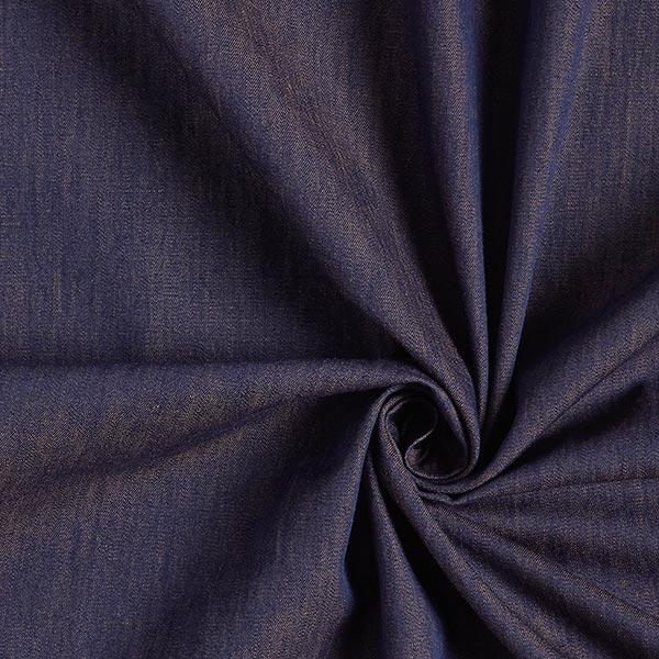 Blusenstoff Baumwolle Melange – blau/orange