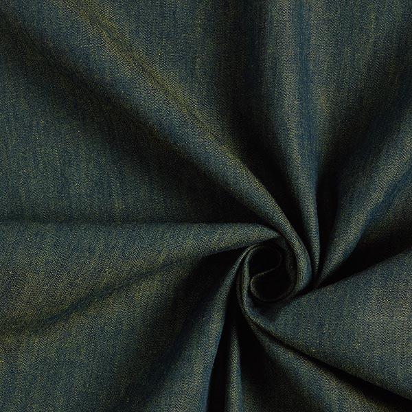 Blusenstoff Baumwolle Melange – blau/apfelgrün