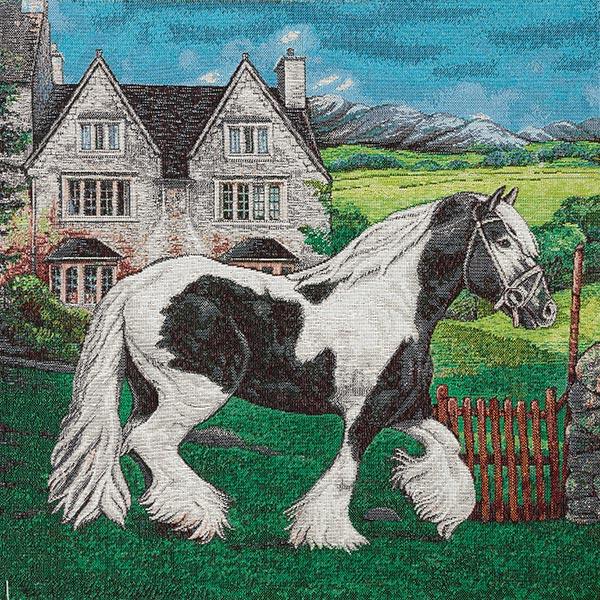 Gobelinstück  Tinker Pferd