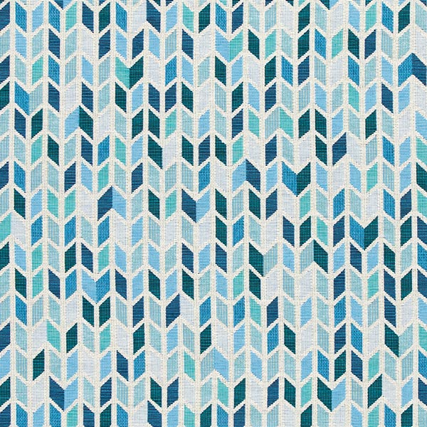 Jacquard Gobelin Zigzag – bleu