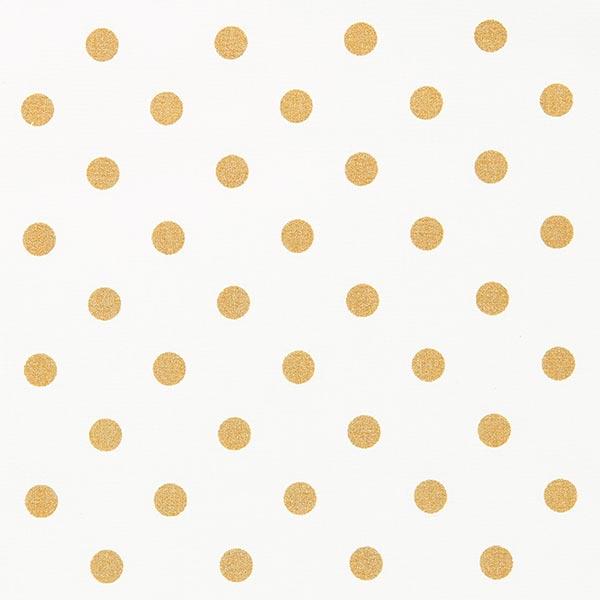 Beschichtete Baumwolle Goldpunkte   Rico Design