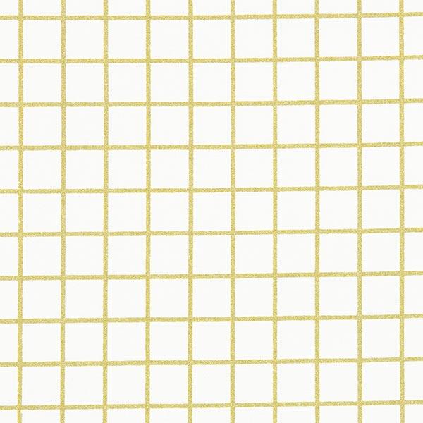 Beschichtete Baumwolle Goldraster | Rico Design