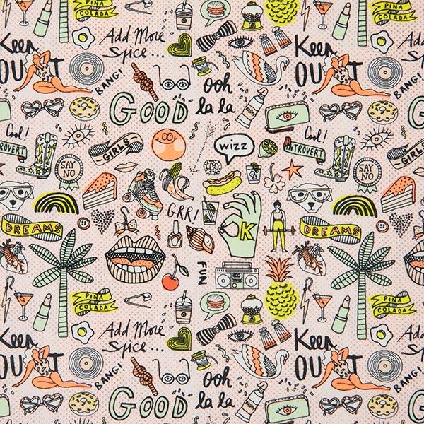 PVC- Baumwollstoff Ohlala | Rico Design