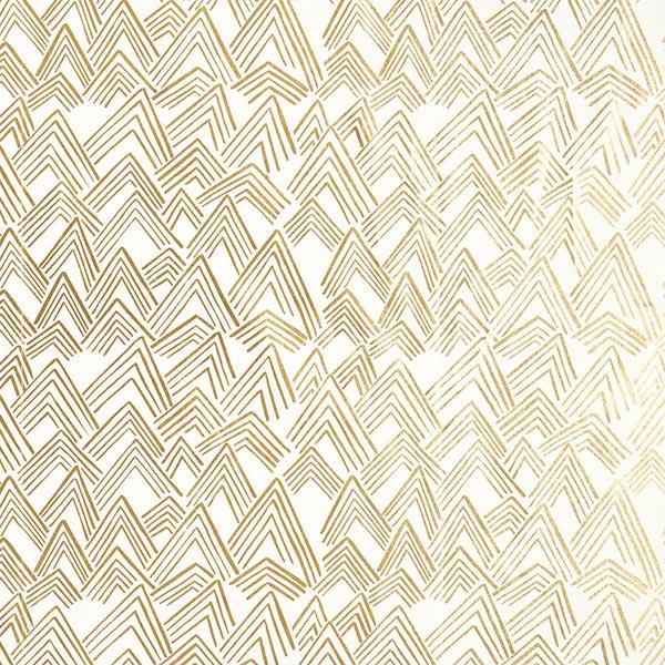 Tissu de décoration Popeline Ethno – nature/or