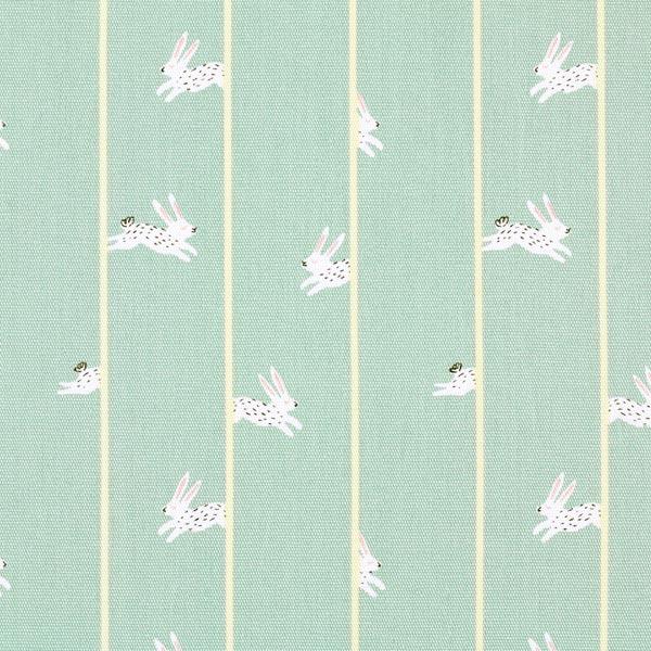 Tissu de décoration Canvas Lapins – vert menthe