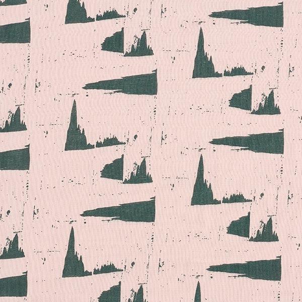 Mousseline coton double épaisseur Motif abstrait | Rico Design – rosé/vert