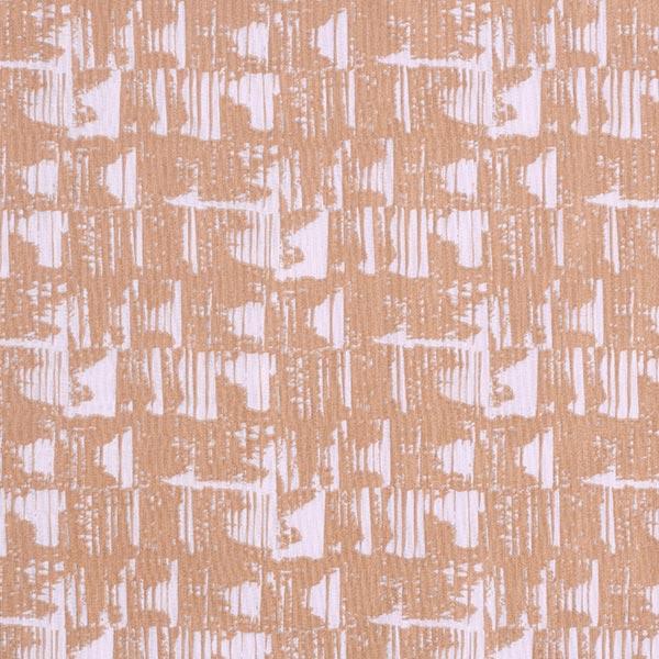 Mousseline coton double épaisseur Motif abstrait | Rico Design – marron/rosé
