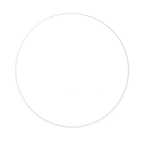 Anneau métallique [ Ø 25 cm ] | Rico Design – blanc