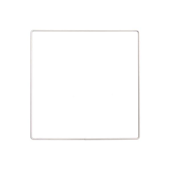 Anneau métallique carré [ Ø 20 cm ] | Rico Design – blanc