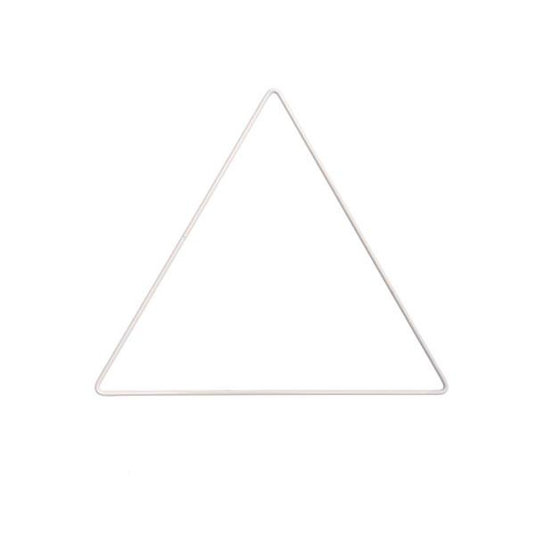 Metallring Dreieck [ Ø 20 cm ] | Rico Design – weiss