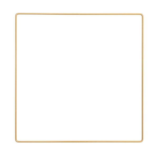 Anneau métallique carré [ Ø 25 cm ] | Rico Design – or