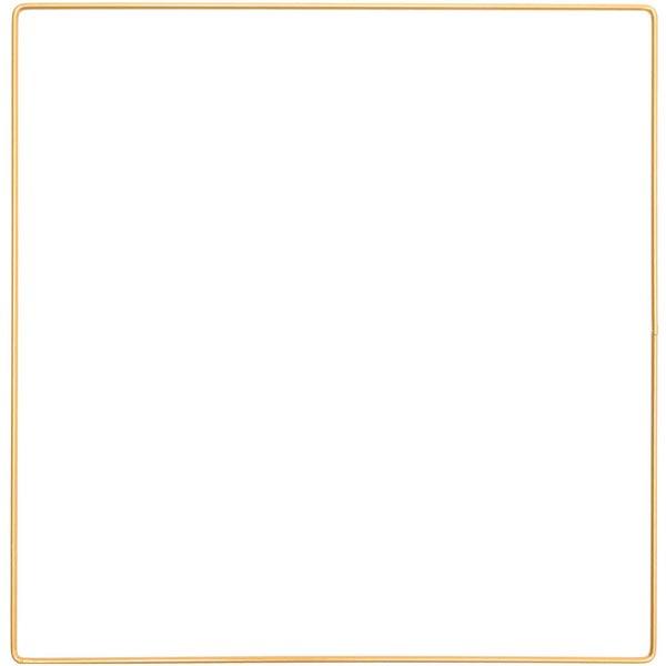 Metallring Quadrat [ Ø 30 cm ] | Rico Design – gold