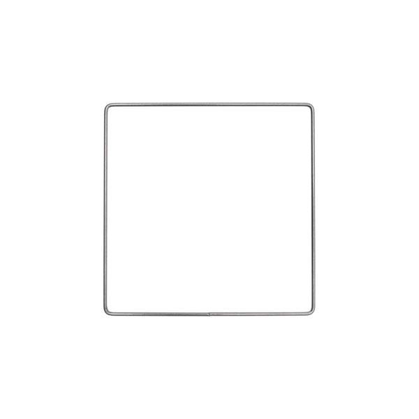 Anneau métallique carré [ Ø 15 cm ] | Rico Design – anthracite