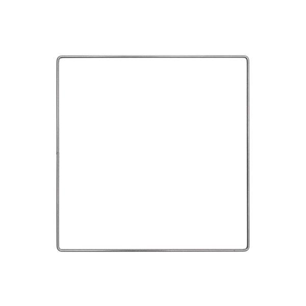 Anneau métallique carré [ Ø 20 cm ] | Rico Design – anthracite