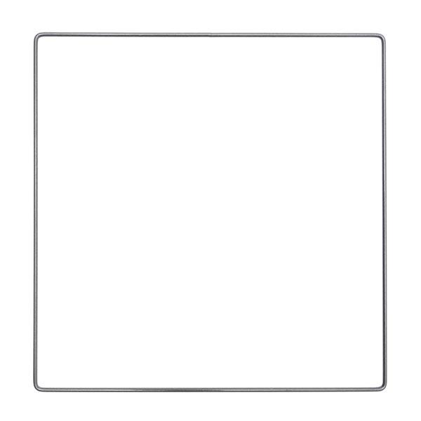 Anneau métallique carré [ Ø 25 cm ]   Rico Design – anthracite