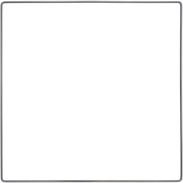 Anneau métallique carré [ Ø 30 cm ] | Rico Design – anthracite